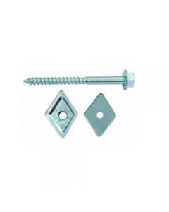 Friulsider vite a legno per coperture con testa esagonale e collare zincata con rondelle romboidali acciaio e plastica mm 27 x 27