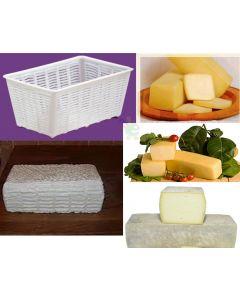 fuscelle fuscella ricottiera forma rettangolare 2 kg per ricotta e formaggi