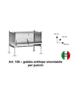 Gabbia per pulcini antitopo