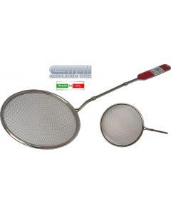 Gnali Art. 422 schiumarola in filo con rete in acciaio inox. Schiumarola disponibile in diametro cm 14 e cm 16