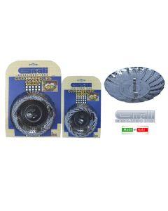 Gnali cuociverdure in acciaio inox 18/10 in acciaio inox 18/10 cromato. Disponibile in versione media ( cm 24 x altezza cm 14 ) e grande ( cm 28 x altezza 18 ).