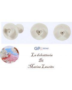 GP&me decoratore per fondente a forma di cuore set 3 pezzi