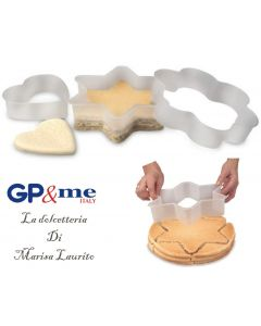 GP&me forme tagliatorta in plastica set 3 pezzi