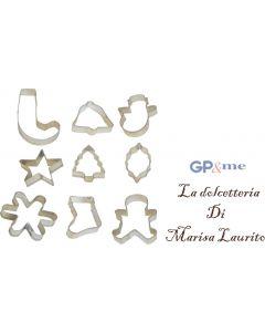 GP&me formine tagliabiscotti set di 9 pezzi in metallo