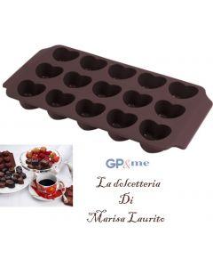 GP&me stampo cioccolatini a forma di cuore in silicone 15 impronte
