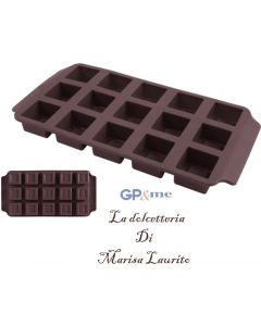 GP&me stampo per cioccolatini quadrati in silicone 15 impronte