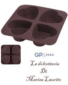 GP&me stampo per dolci a forma di cuore in silicone 4 impronte