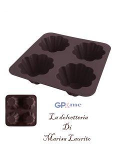 GP&me stampo per dolci a forma di fiore in silicone 4 impronte