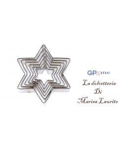 GP&me tagliabiscotti in acciaio inox a forma di stella set 6 pezzi
