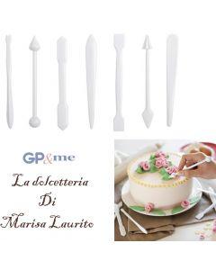 GP&me utensili decoratori per dolci fatti in casa pasticceria set 7 pezzi