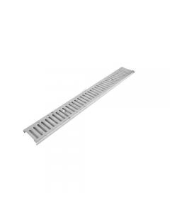 Griglia stampata zincata per canaletta con fori di fissaggio cm 13 x 100