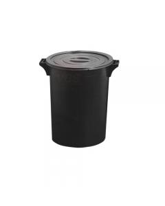 Ics bidone per immondizia e rifiuti colore nero sovrapponibile con coperchio