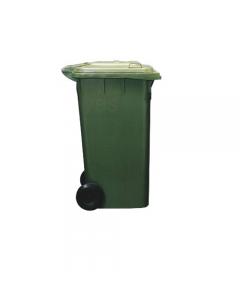 Ics bidone per immondizia quadro con coperchio e ruote in polipropilene colore verde