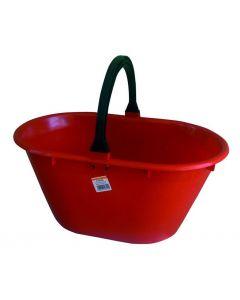 Ics cesta ovale raccogli frutta con manico in plastica cm 50 x 31 x h 24 litri 20
