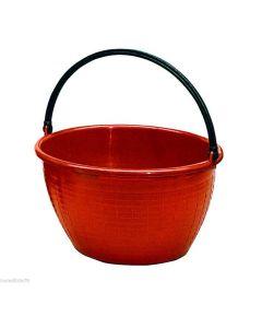 Ics cesta raccoglifrutta rotonda con manico in plastica diametro cm 36 x h 24 capacità 16 litri