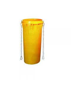 Ics convogliatore di macerie completo di catene e ganci colore giallo diametro cm 50 x altezza cm 110