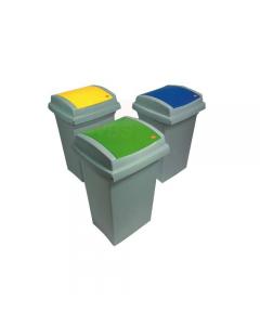 Ics Recycling bidone per la raccolta differenziata litri 50 cm 43 x 39 x h 68