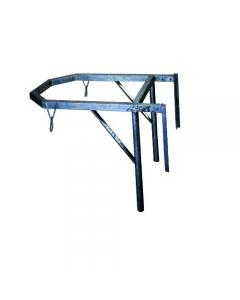 Ics telaio universale per tramoggia per convogliatore di macerie in acciaio zincato dimensioni cm 73 x 102 x 53