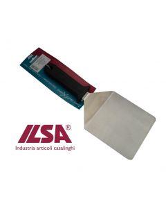 Ilsa paletta per pizza cm 14 x 13,8 in acciaio inox