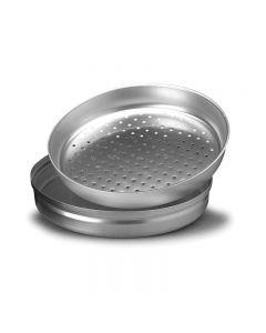 Infarinapesce setaccio in acciaio da cucina per cuoco e ristorazione