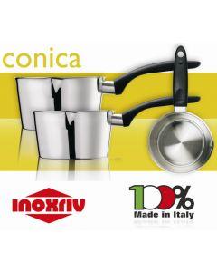 Inoxriv casseruola conica da chef in acciaio inox 18/10. Casseruola conica disponibile in diametro cm 10 cm 12 cm 14 cm 16