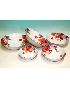 Insalatiera tonda 100% melamina diametro cm 27 decorazione rose