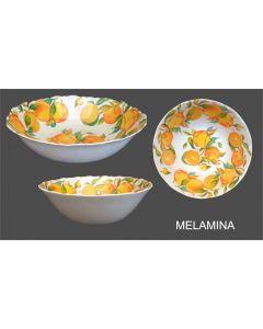 Insalatiera tonda in melamina diametro cm 29 decorazione agrumi