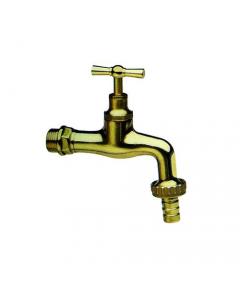 """Itap rubinetto da giardino portagomma in ottone lucido modello pesante finitura naturale attacco 1/2"""" EAN 8000071554954"""