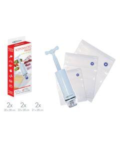 Mongari kit set sottovuoto composto da 6 sacchetti con pompa con  gonfiatore