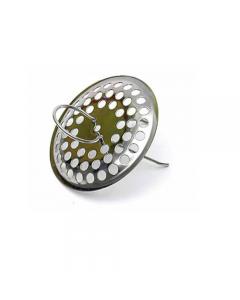 Lanzini griglietta in acciaio inox per lavandini con molla diametro mm 60