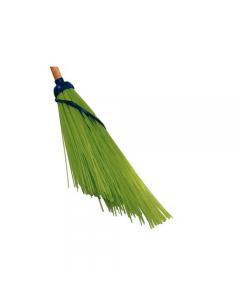 Lapiacen Spazzina scopa in plastica senza manico colore verde