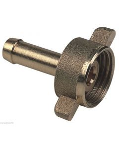 Linea Verde portagomma 2 pezzi raccordo per tubo irrorazione in ottone diametro mm 10