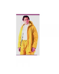 Maurer abbigliamento da lavoro impermeabile antistrappo a completo con cappuccio colore giallo in pvc e fori d'areazione