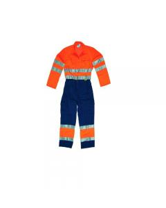 Maurer abbigliamento da lavoro per edilizia cantiere tuta alta visibilità colore arancio/blu