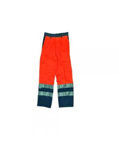 Maurer abbigliamento da lavoro per edilizia pantalone alta visibilità colore arancio/blu