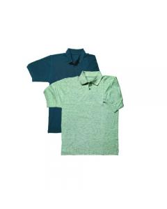 Maurer abbigliamento da lavoro per edilizia polo maniche corte colore grigio melange 100% in cotone