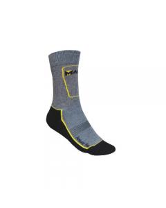 Maurer Amicor Plus calze da lavoro per edilizia versione corta. Non comprimente. Punta e tallone rinforzati. Calza antibatterica e antimicotica composta al 50% da cotone, al 30% Amicor Plus e al 20% in Polyammide.