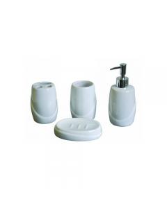 Maurer Aq set accessori in ceramica per il bagno dispenser sapone liquido portasapone portaspazzolino bicchiere