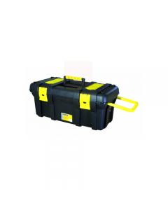 Maurer baule porta utensili e attrezzi in polipropilene. Coperchio con vaschette portaminuterie. Con ruote e maniglia. Dimensioni cm 77 x 41 x h 40.