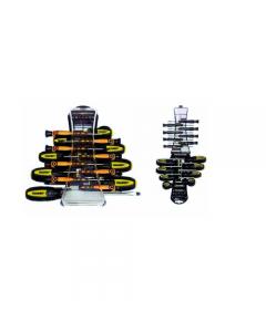 Maurer cacciaviti e inserti in serie da 30 pezzi con supporto appendibile. Lama in acciaio al cromo vanadio satinata a sezione tonda. Manici bicomponente ergonomici e antisdrucciolevoli
