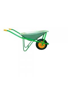 Maurer carriola per edilizia con vasca zincata di capacità 70 litri ruota pneumatica mm 350 x 80 modello smontato