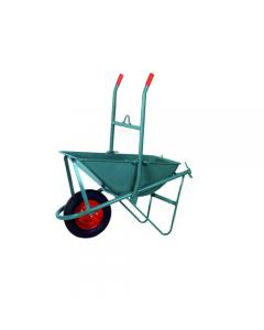 Maurer carriola per edilizia ribaltabile vasca capacità litri 85 spessore 10/10 ruota pneumatica mm 350 x 80 esecuzione verniciata