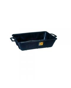 Maurer cassa per malta in polietilene nero tipo rinforzato dimensioni cm 67 x 45 x 17