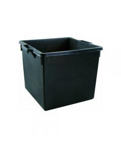 Maurer cassa per raccolta macerie in polietilene nero tipo rinforzato cm 43 x 42 x 45 litri 50. 5 pezzi. Casa ideale per raccogliere macerie in cantieri edili.
