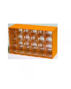 Maurer cassettiera porta minuterie in polipropilene. Con 24 cassetti trasparenti. Dimensioni esterni mm 382 x 148 x h 230. Dimensioni cassetto mm 49 x 145 x 55.