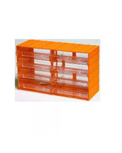 Maurer cassettiera porta minuterie in polipropilene. Dimensioni esterne mm 382 x 148 x h 230. Con 8 cassetti trasparenti. Dimensioni cassetto mm 184 x 145 x 55.