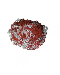 Maurer catena in plastica segnaletica di delimitazione colore bianco/rossa lunghezza rotolo 25 metri