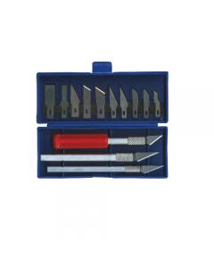 Maurer coltello per refilare kit 3 pezzi con 10 lame in astuccio