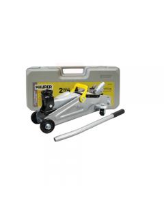 Maurer cricco idraulico a carrello lunghezza mm 475 portata 2000 kg con valigetta. Alzata mm 135 - mm 355.
