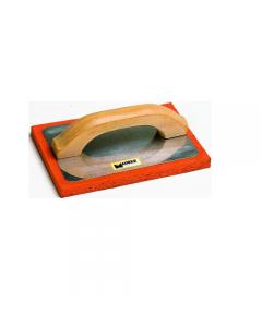 Maurer frattone con manico in legno con gomma spugna colore arancio e base in alluminio